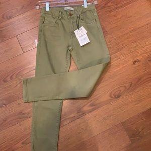 Zara NWT green skinny jeans size 10